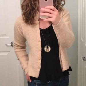 : Anthropologie: Cream Wool Sweater